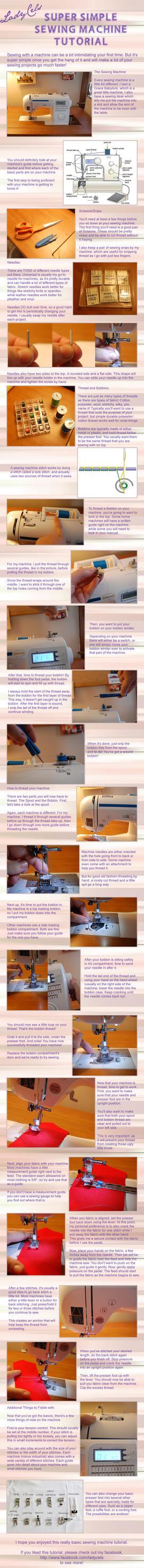 Super Simple Sewing Machine Tutorial by DragonLadyCels