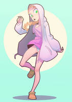 Hoodie Girl by The-Pink-Pirate