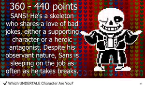 My undertale character - IQ Test by googleman911