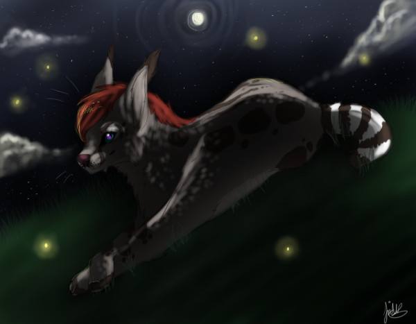 All these fireflies (Art Trade) by shattered-bones