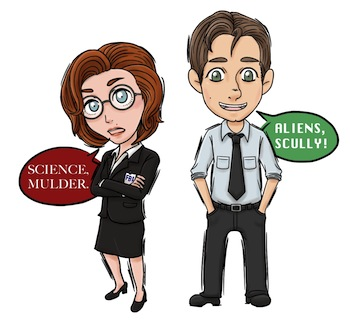 Scully and Mulder by shuufly