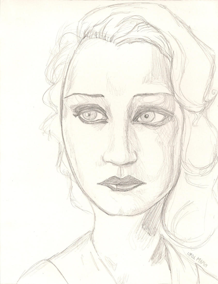 Brigitte Helm - rough sketch by Colour-Me-Deranged