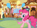 Pinkie Pie with a Balloon