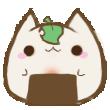Onigiri Blob Cat by Kourinn