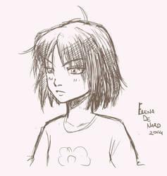 Manga sketch.. by ElenaDeNard