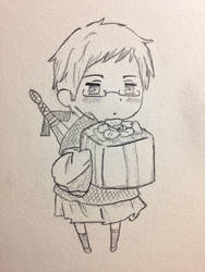 Chibi APH Sweden Doodle (Birthday Edition)