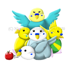 Pudgy Budgies by Wolfs-echo
