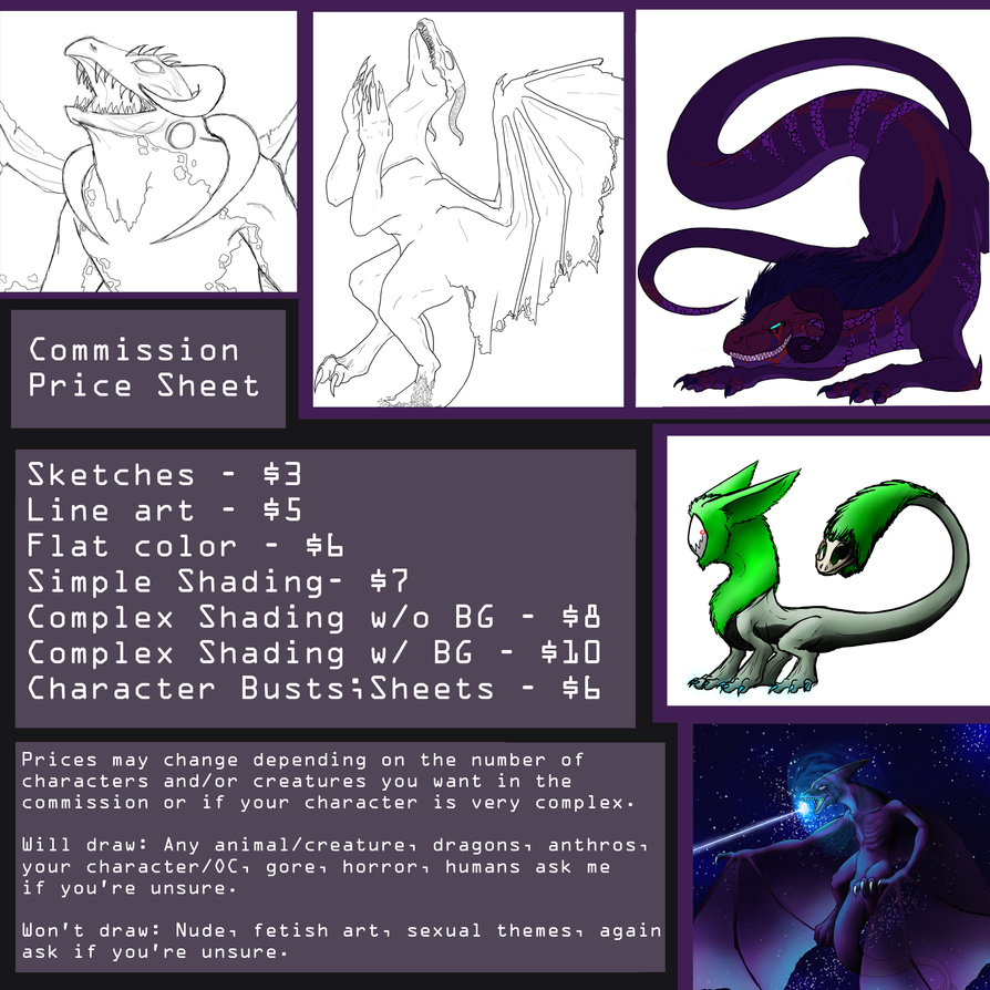 Commission Price Sheet by Commander-Sheep