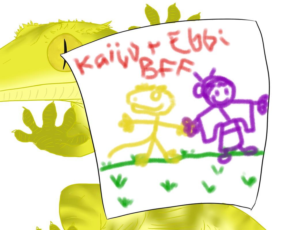 Kaiju + Ebbi BFF by Commander-Sheep