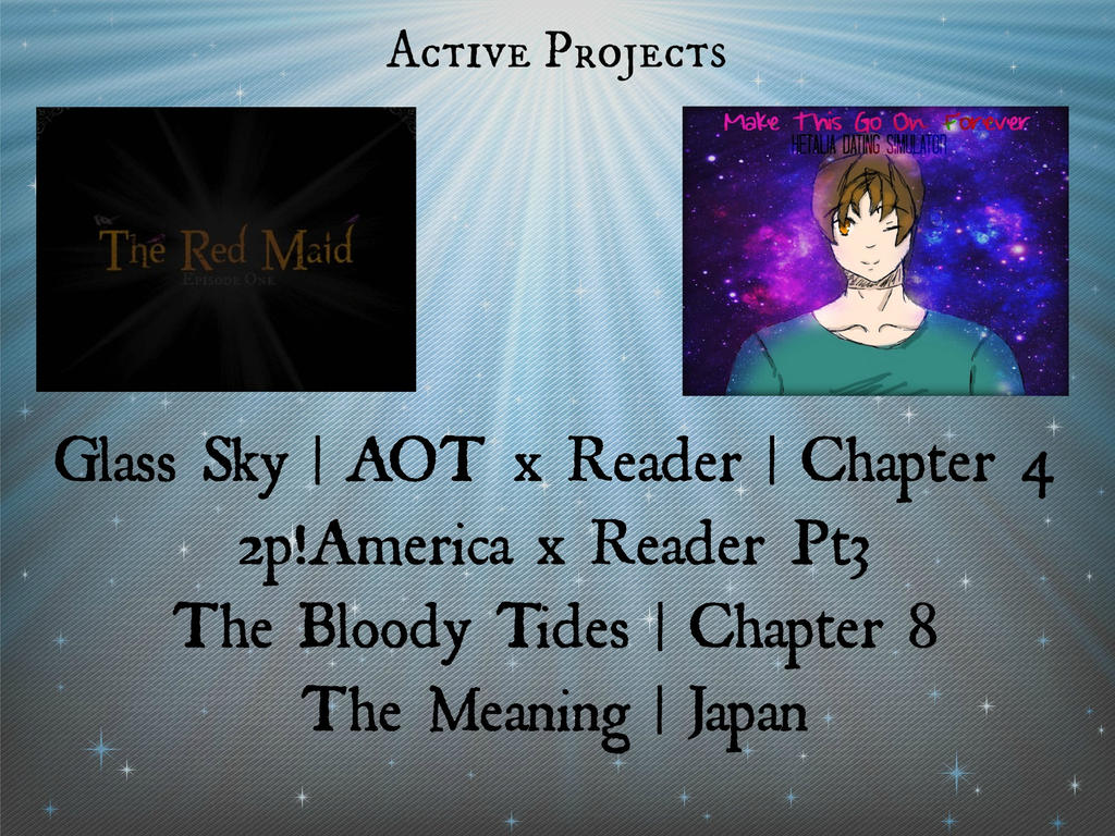 Active Projects | July20th by AnomalyKJ