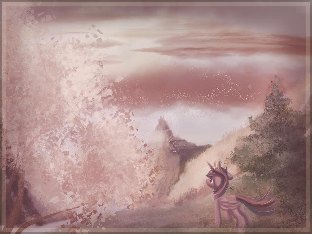 {Speedpaint} Cherry Blossom Sunrise by Amura-Of-Jupiter
