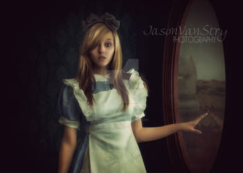 Alice and the Looking Glass (blue dress version)