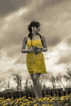 Yellow Dress (#2, selective saturation)