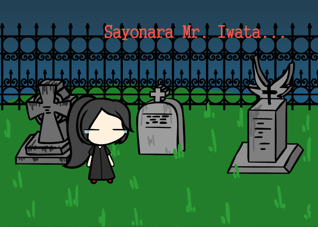 RIP Mr. Iwata-san.... by Azelf101