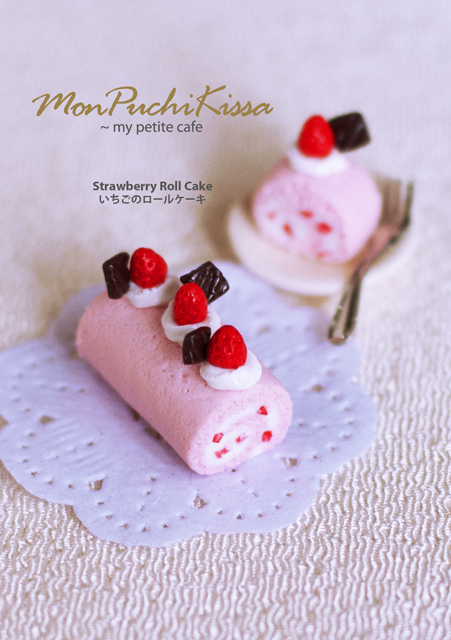 Strawberry Roll Cake by monpuchikissa