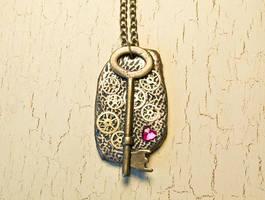 Steampunk key necklace by skuggsida
