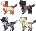[Lowered] Quick cat adopts | 1/4 Open