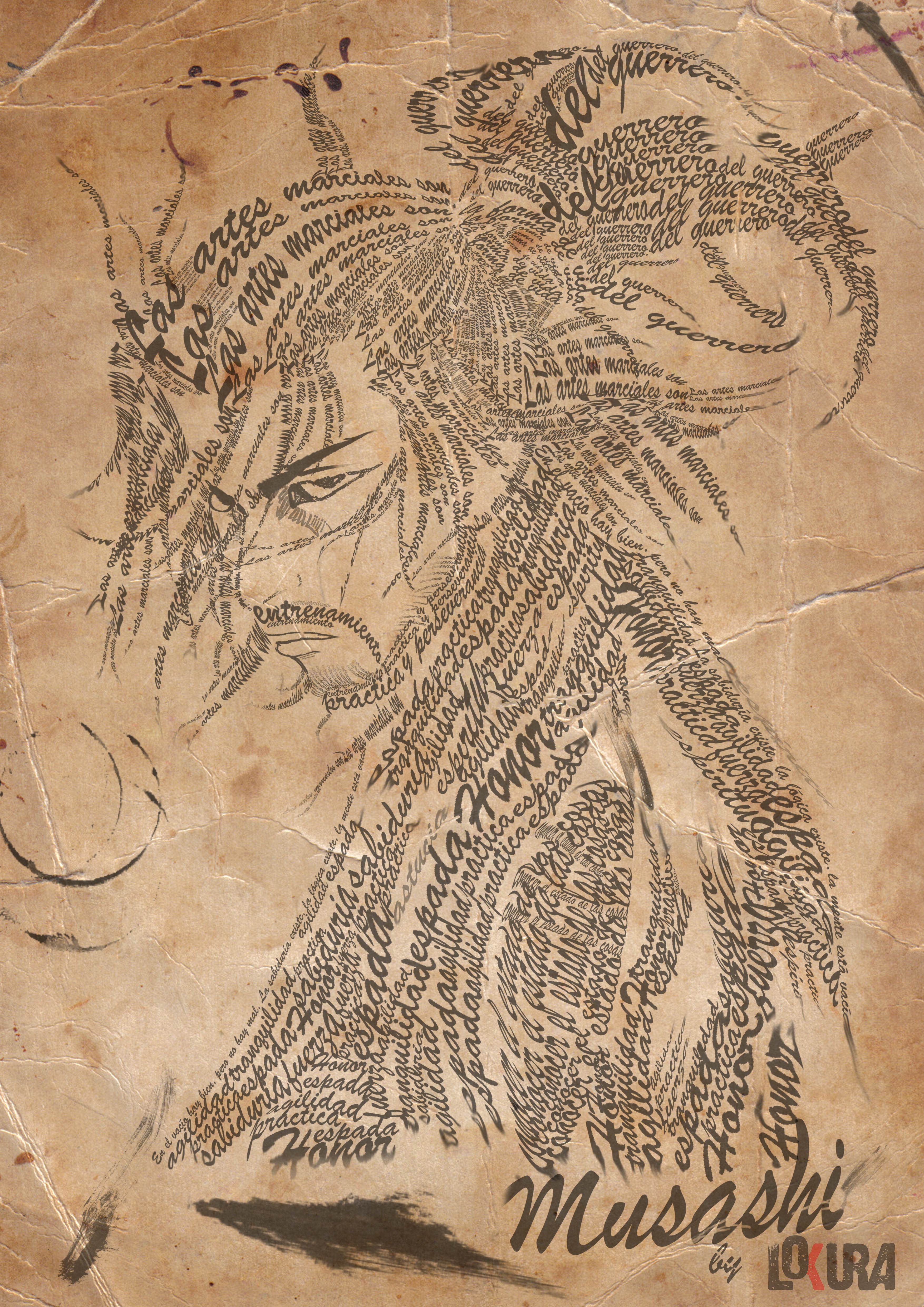 Caligrama Musashi by 666Lokura