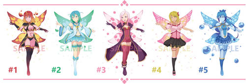 [OPEN 1/5] Fairy Adoptables by D-Faction