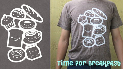 Time for Breakfast T-shirt by Papacan