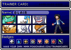 Pokemon Trainer Card Red/Blue by Tycoondasher