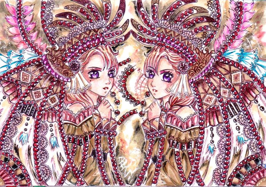 ++WARRIOR DREAM TWIN++ by ladybluematrix