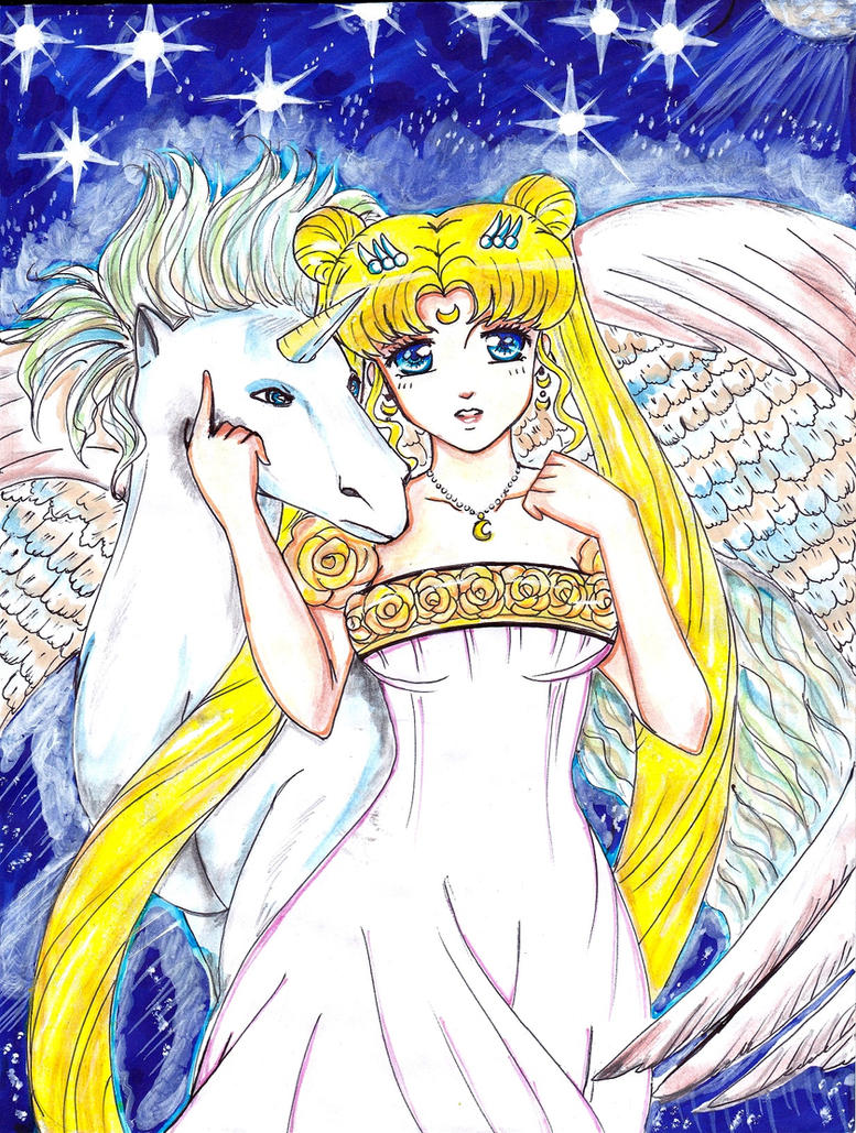 ++PRINCESSSERENITY AND PEGASUS++ by ladybluematrix