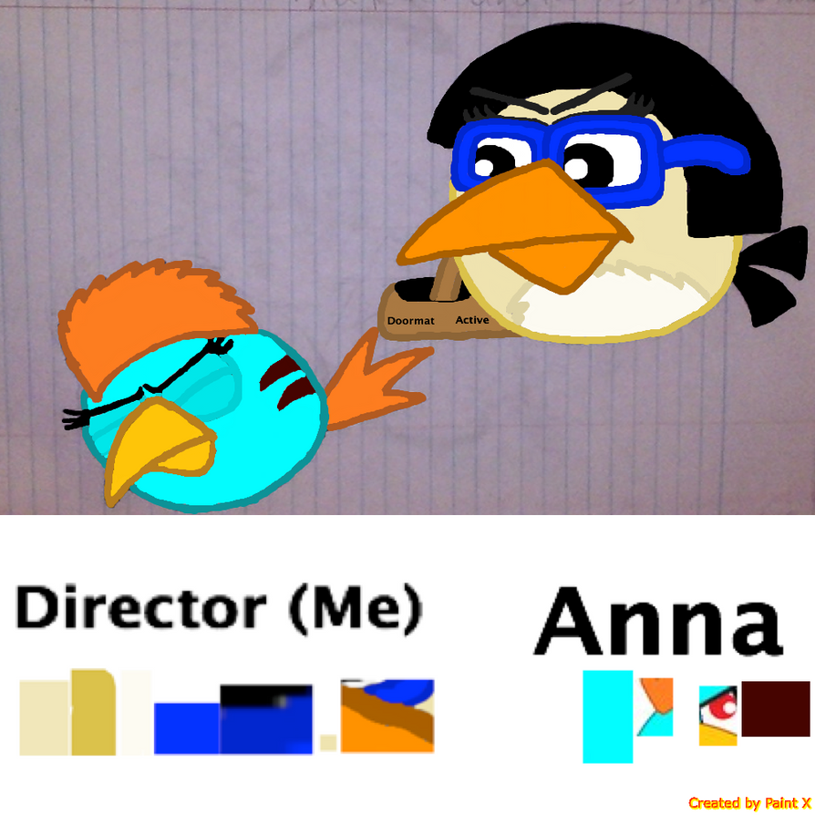 Me looking at Dead Anna with color by Mario1998