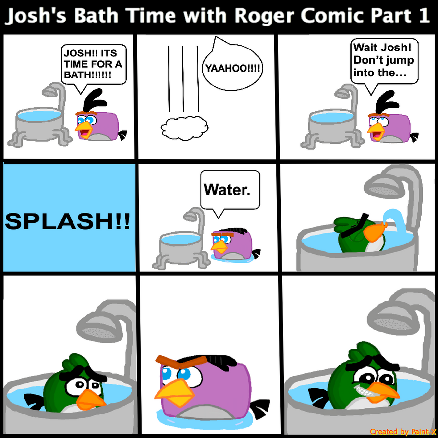 Josh's Bath Time with Roger Comic Part 1 by Mario1998