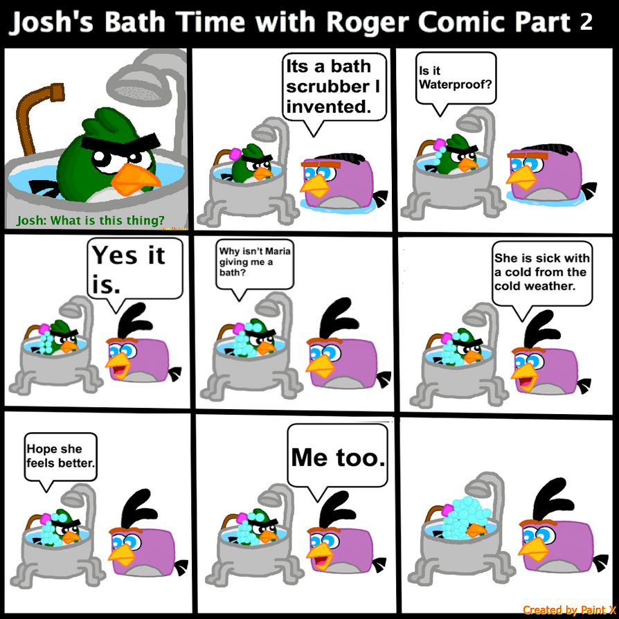 Josh's Bath Time with Roger Comic Part 2 by Mario1998