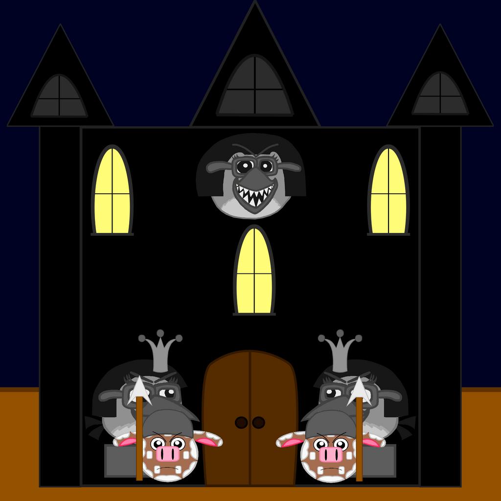 Dark Empire Castle Front with Guard Cows by Mario1998