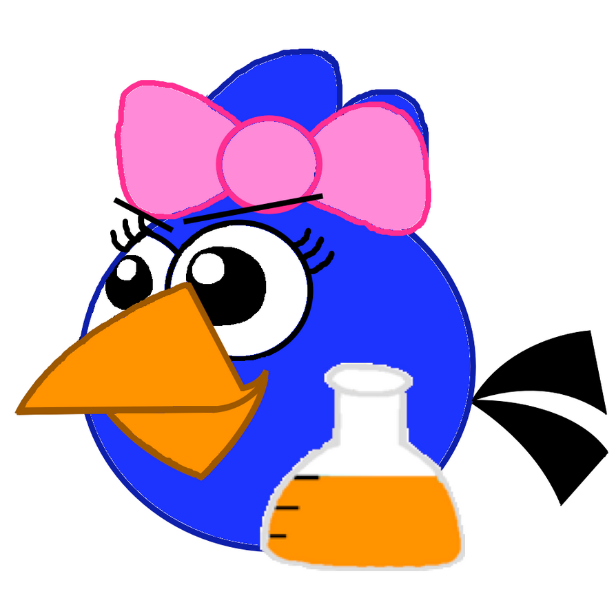 Little Blue Evil Smile with Potion by Mario1998