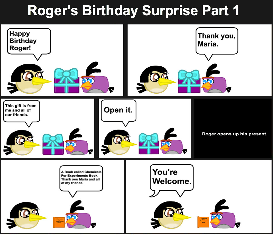 Roger's Birthday Surprise Comic Page 1 by Mario1998