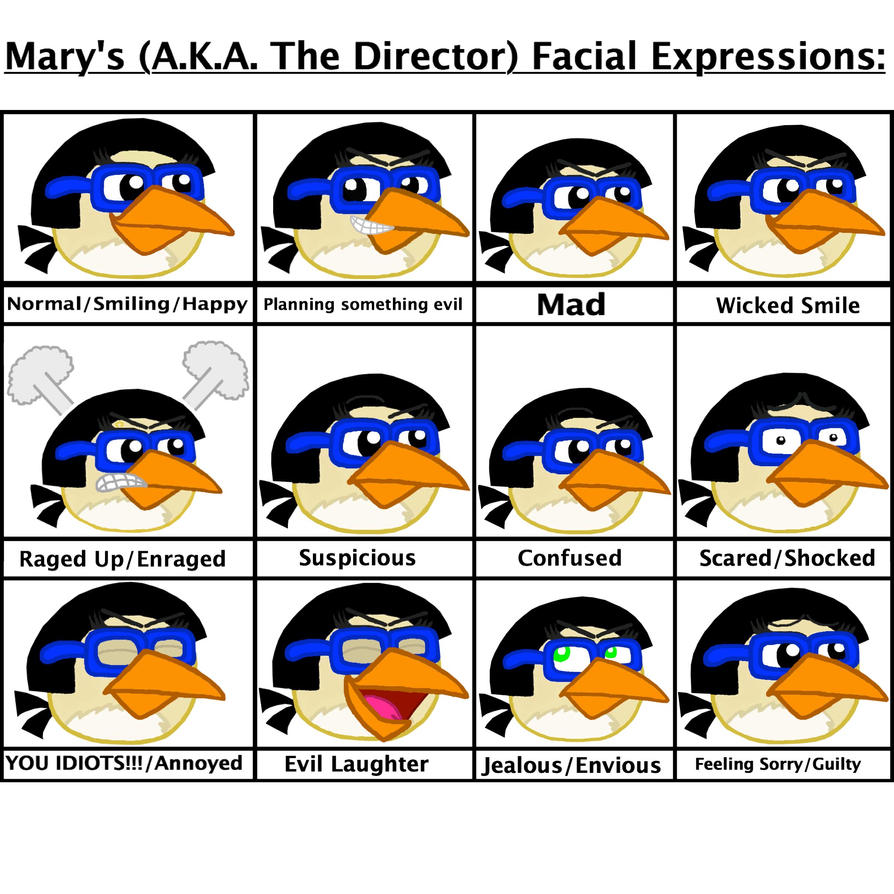 Mary's Facial Expressions Part 1 by Mario1998