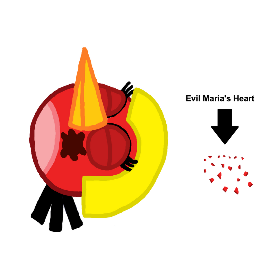 Evil Maria's Death by her Heart being taking out by Mario1998