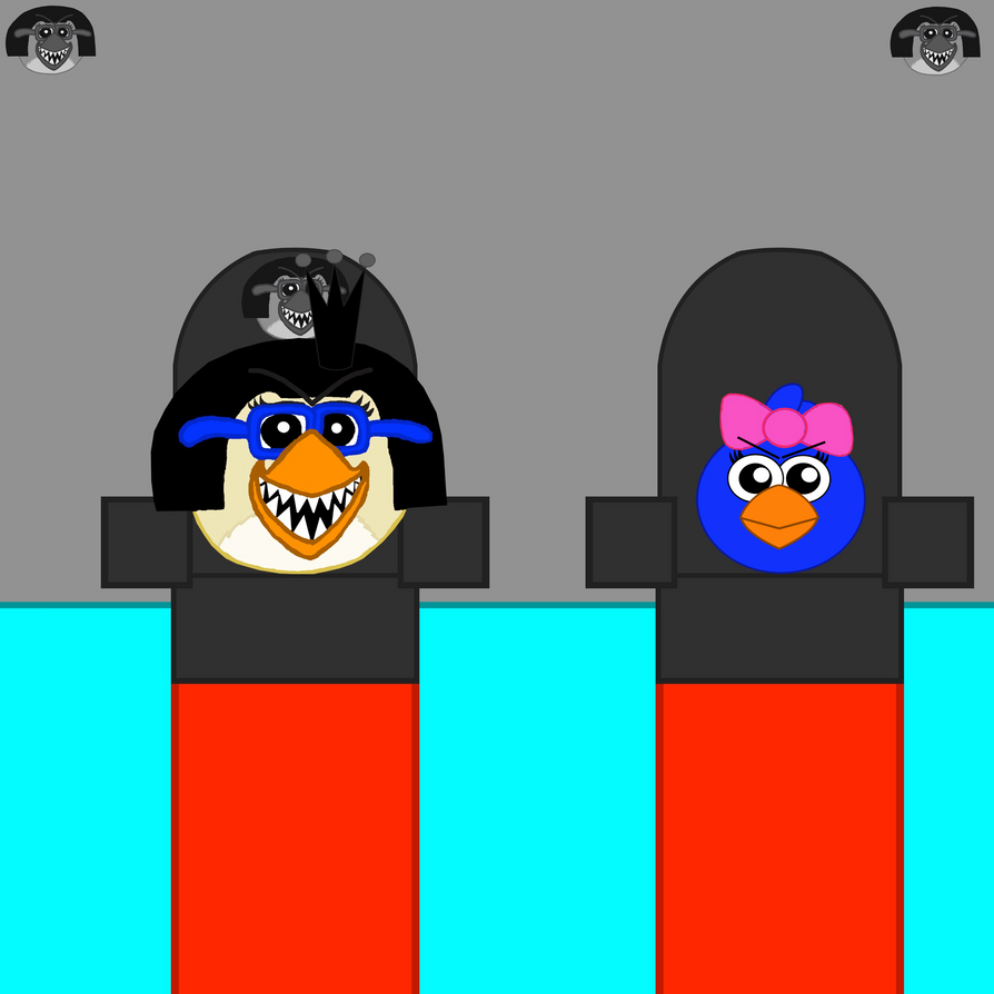 Evil Empress Mary and Princess Little Blue by Mario1998
