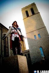 Ezio costume: Perched by Sound-Resonance