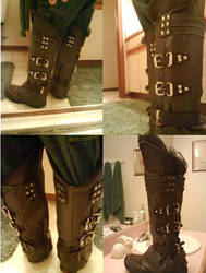 Ezio Costume: Boots Final by Sound-Resonance