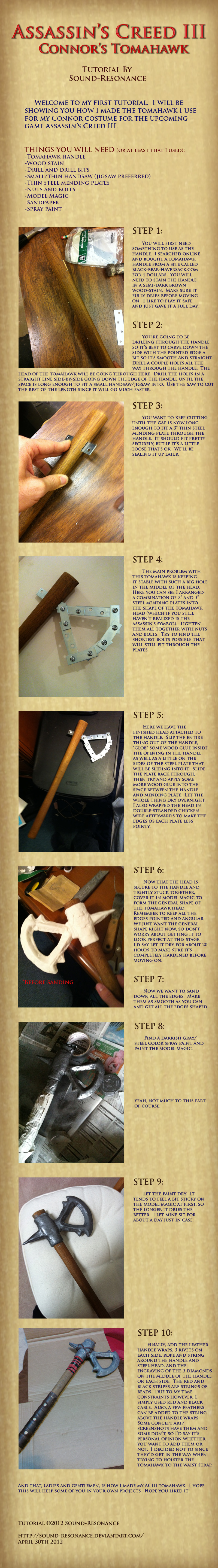 Tutorial: Assassin's Creed 3: Connor's Tomahawk by Sound-Resonance