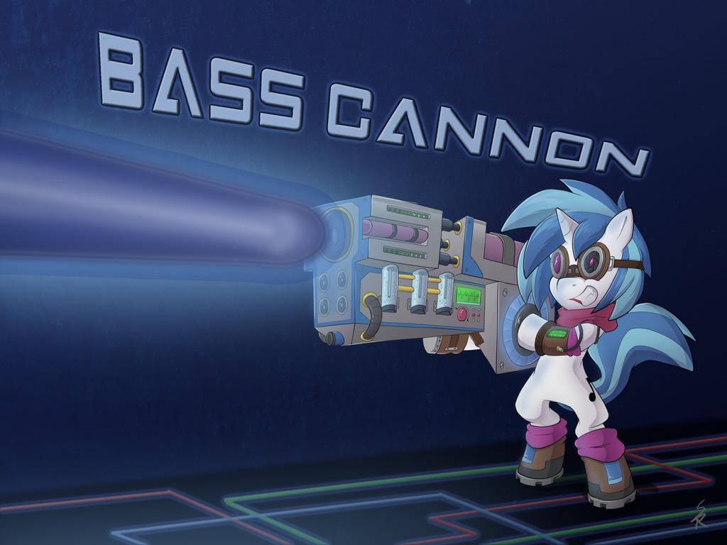 Vinyl Scratch Bass Cannon