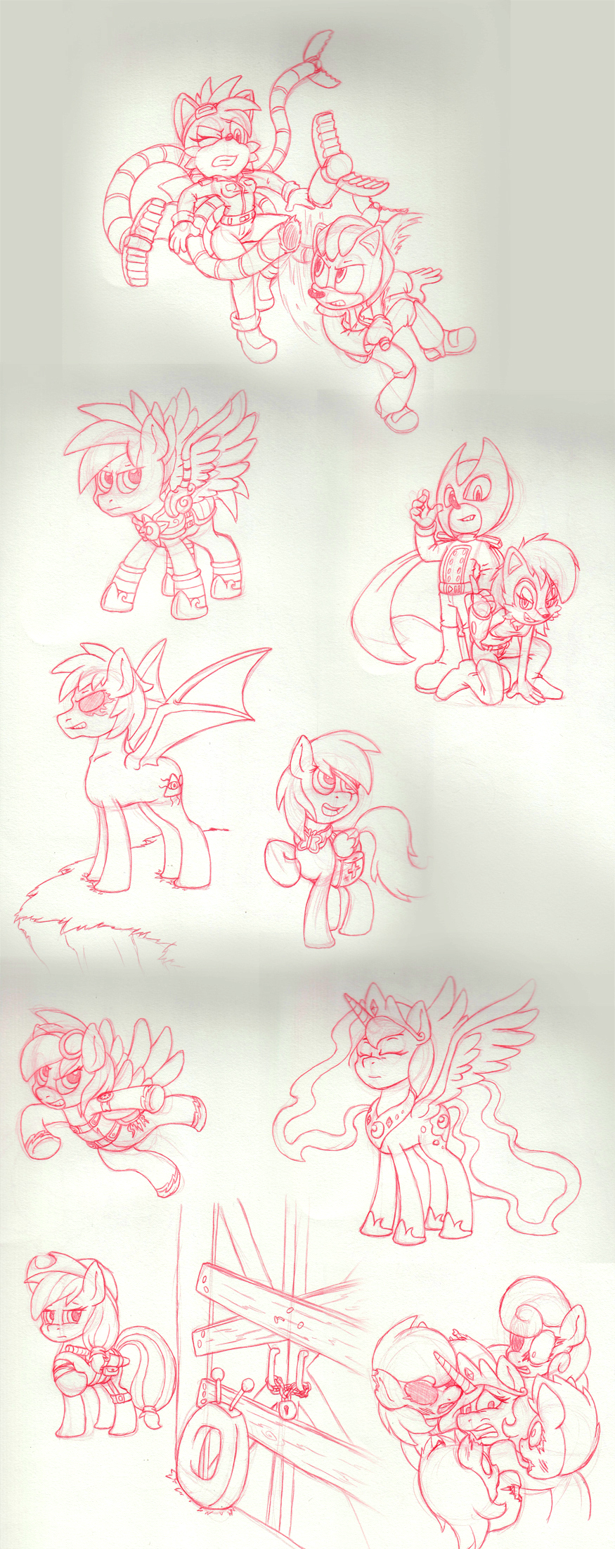 Comm-Sonic and Pony Sketches by Sound-Resonance