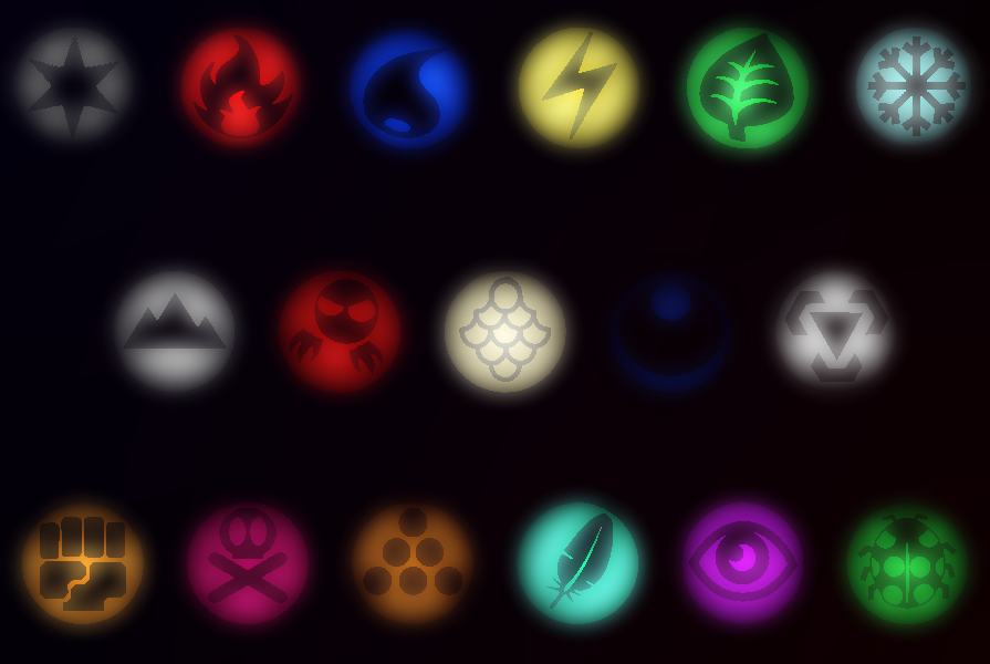 Glowing Pokemon Elements By Emorock114 On Deviantart