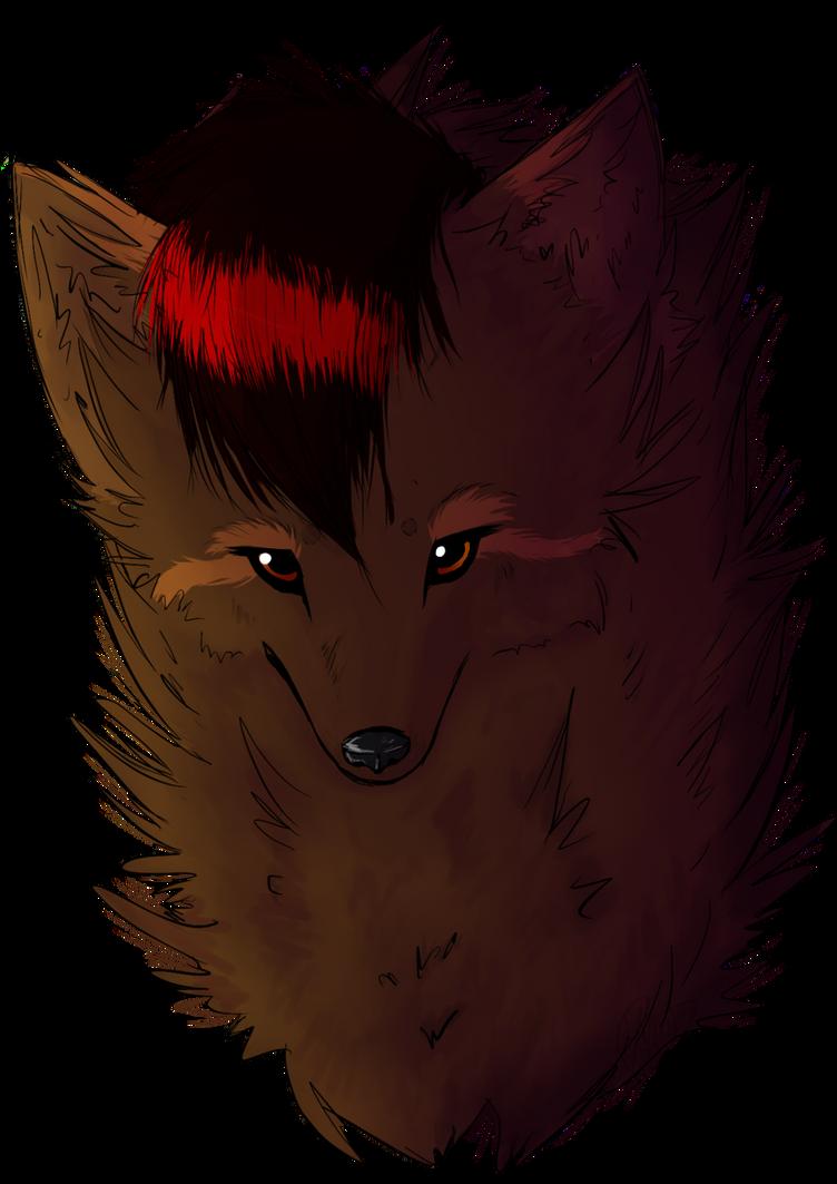 :PC: Fursona as a wolf by Yujami