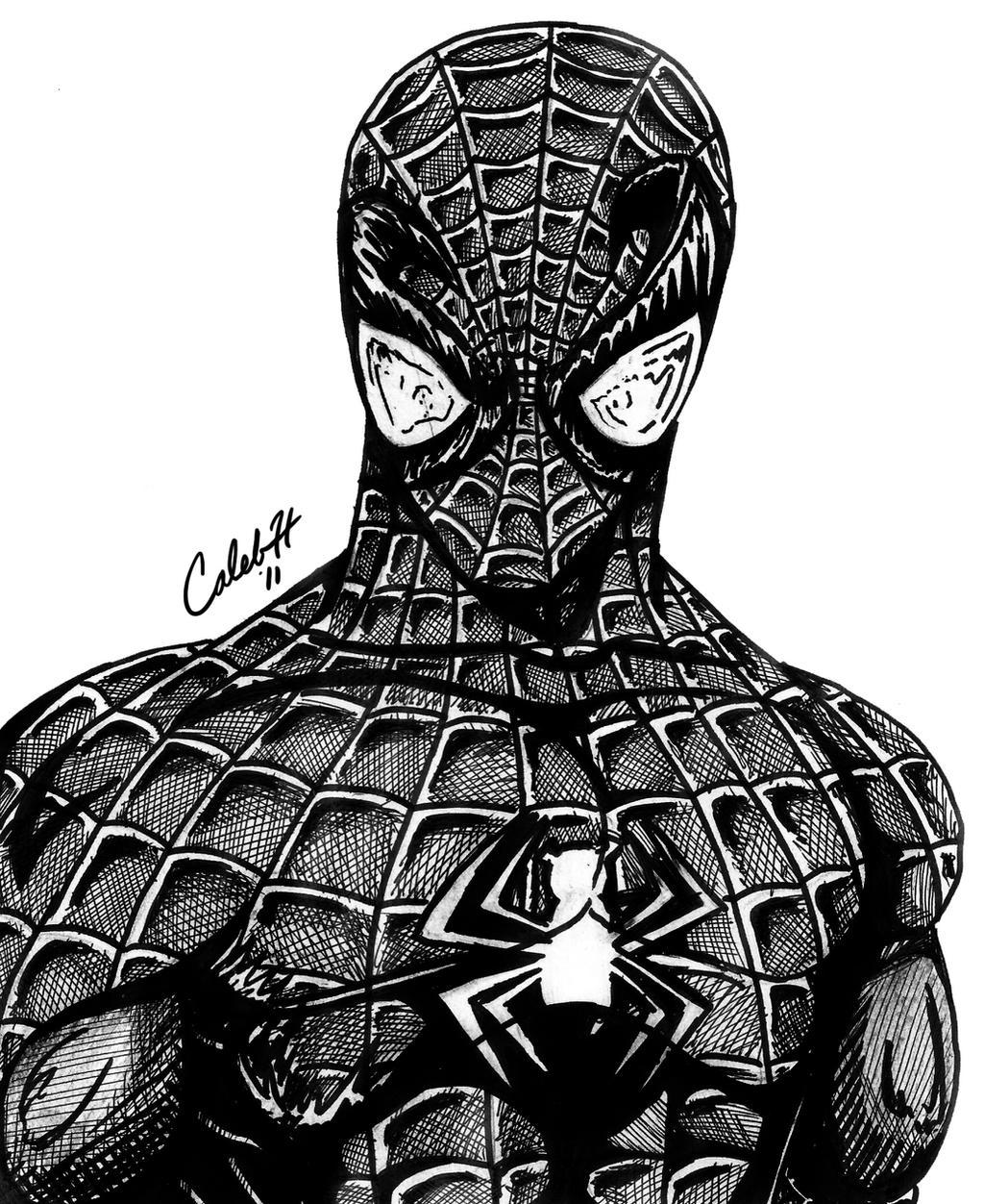 Disegni da colorare spiderman nero timazighin for Spiderman colorare