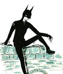 Hipster Batman by DIchigo