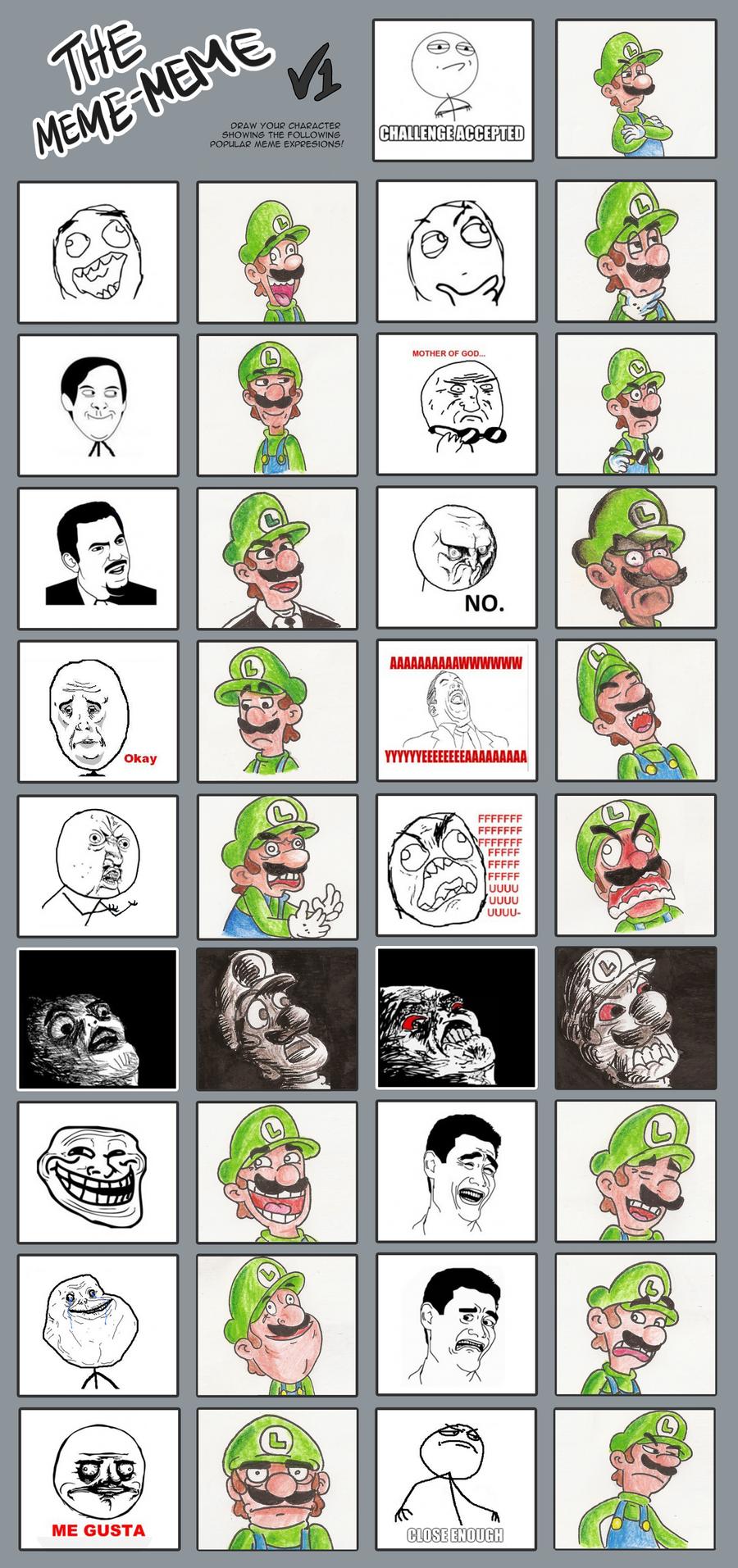 The many faces of Luigi by Kopejo
