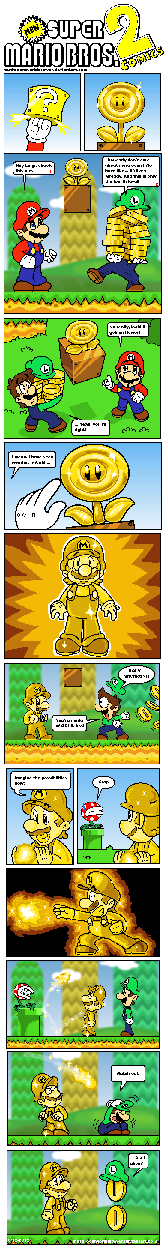 NSMB 2 Comics: The Golden Flower by MushroomWorldDrawer