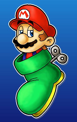 Shoe Mario by MushroomWorldDrawer