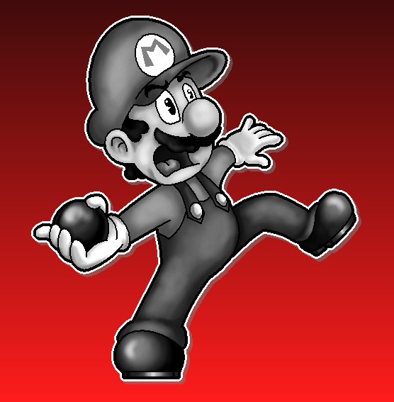 Superball Mario by MushroomWorldDrawer