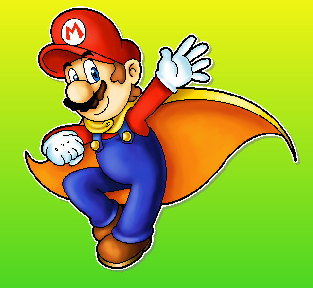 Cape Mario by MushroomWorldDrawer